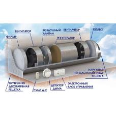 Система вентиляции с рекуперацией тепла  СПВВР-КР-125 Зилант